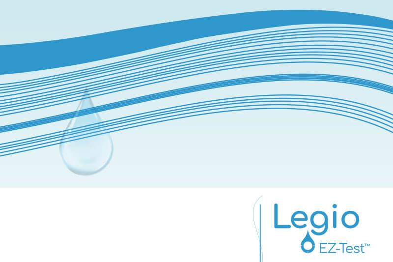 Packaging de Legio EZ-Test, le kit de testing de la bactérie legionella