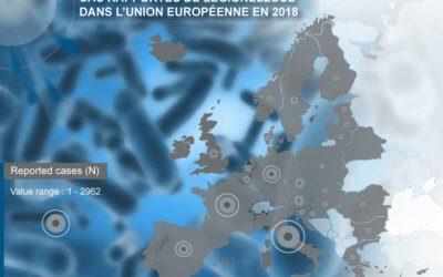 Évolution et répartition des cas de légionelloseau sein de l'Union Européenne